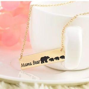 Jewelry - 3/$25 Mama bear gold necklace three baby bears